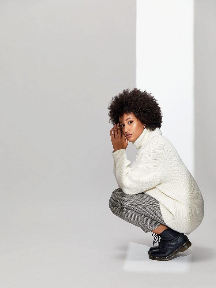Afro Zara AW2021 Herbst Winter Mantel Kampagne Wiener Models BLM